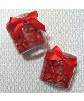 מתנות לאורחים צנצנת עם סרט במילוי סוכריות