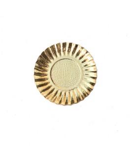 25 צלוחיות קינוח מנייר- זהב