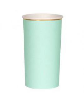 כוס נייר גבוהה מנטה - Meri Meri