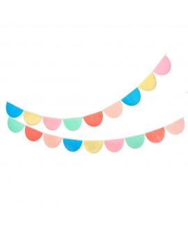 גרילנדת חצאי עיגולים צבעוניים' - Meri Meri