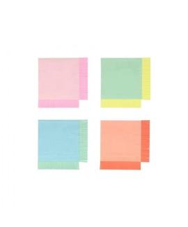 מפיות קטנות בצבעי נאון עם פרנזים - Meri Meri