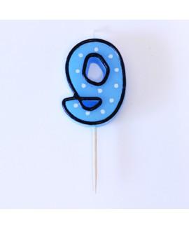 נר הספרה תשע - כחול