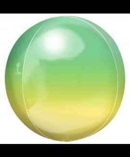 בלון הליום כדור אומברה ירוק צהוב