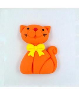 קישוט בצק סוכר - חתול כתום