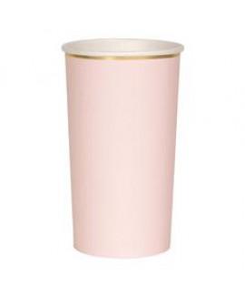 כוס נייר גבוהה ורוד בייבי - Meri Meri