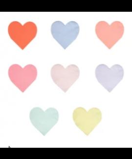 מפיות לב גדולות בצבעי פסטל - Meri Meri