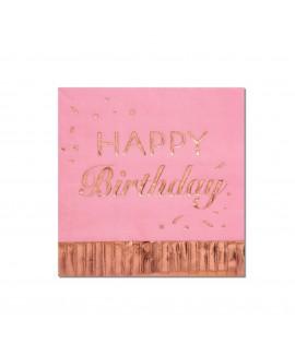 מפיות ורודות happy birthday