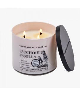 נר שלוש להבות- patchouli vanilla