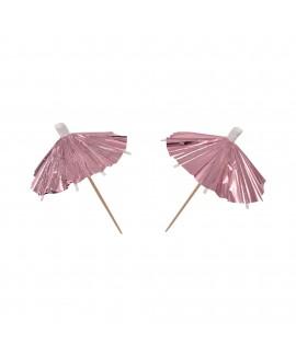 קיסמי מטריות לכוסות רוז גולד