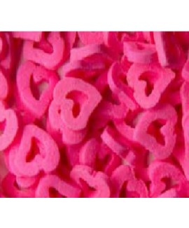 סוכריות לעוגה לבבות חלולים ורוד