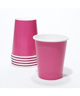 כוסות נייר צבע פוקסיה