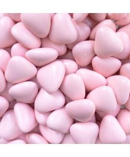 סוכריות עדשים בצורת לב ורוד
