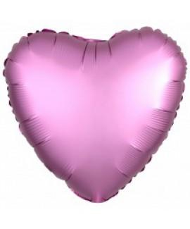 בלון אלומיניום לב ורוד