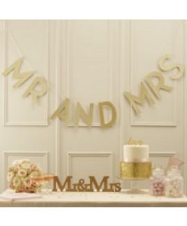 שרשרת זהב MR AND MRS