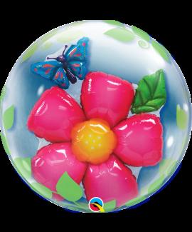 בלון בועה גדול פרח פרפר