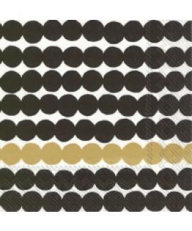 מפיות נייר עיגולים שחור זהב