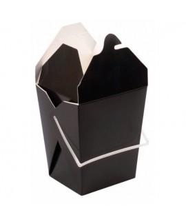 קופסת אוכל סיני בצבע שחור עם ידית נשיאה