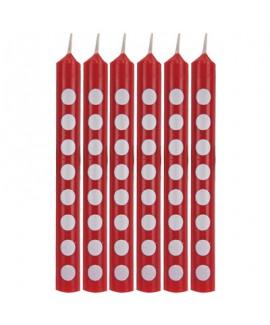 מיני נרות אדומים עם נקודות