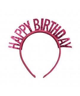 קשת Happy Birthday ורוד