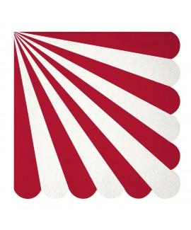מפיות גדולות אדום לבן - Meri Meri