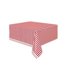 מפת ניילון פסים אדום לבן