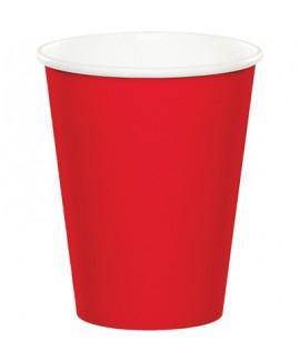 כוסות נייר אדום