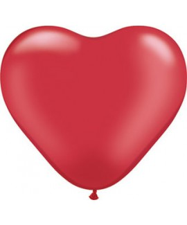 בלון גומי לב אדום