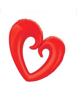 בלון לב חלול אדום