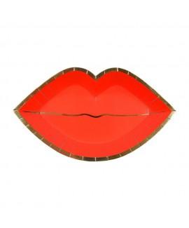 צלחות שפתיים גדולות - Meri meri