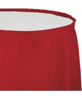 חצאית לשולחן אדום