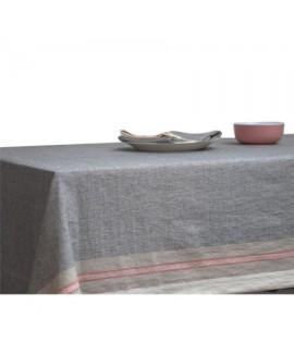 מפת שולחן כחולה עם פס אדום יוקרתית