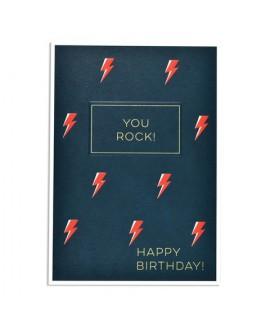 כרטיס ברכה יום הולדת - you rock