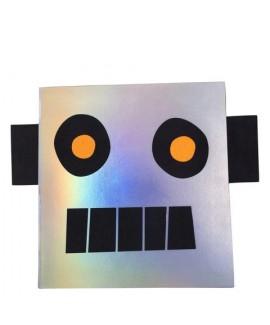 חוברת ציור ומדבקות בצורת רובוט - meri meri