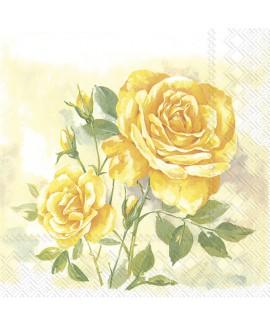 מפיות שושנים צהובות