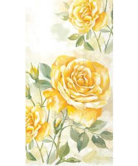 מפיות מלבניות שושנים צהובות