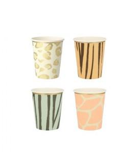 כוסות הדפסי ספארי - Meri Meri
