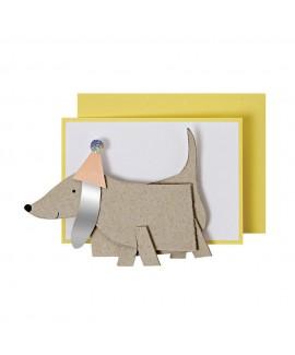 מיני כרטיס ברכה כלב - Meri Meri