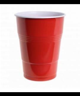 כוסות בירה אדומות גדולות מפלסטיק