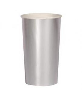 כוס נייר גבוהה כסף - Meri Meri