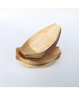 סירות קטנות מעץ להגשה