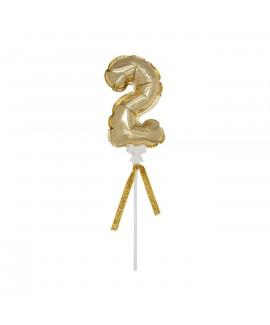 מיני בלון ספרה 2 זהב