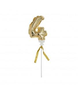 מיני בלון ספרה 4 זהב