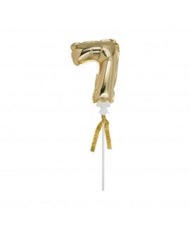 מיני בלון ספרה 7 זהב