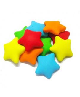 קישוט בצק סוכר - כוכבים צבעוני
