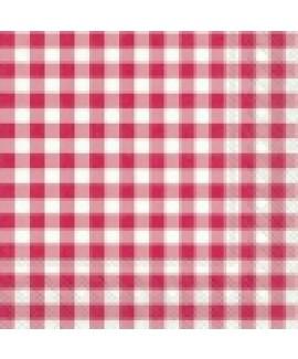 מפיות נייר משבצות אדומות