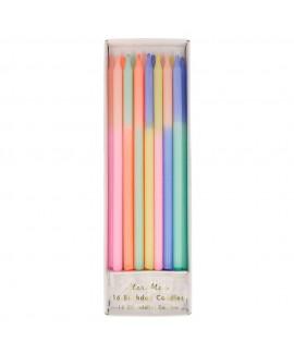 נרות ארוכים צבעי פסטל צבעוני - Meri Meri