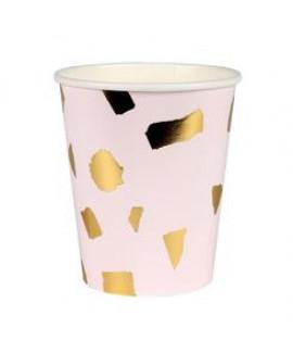 כוסות טראצו ורוד זהב - Meri Meri