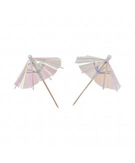 קיסמי מטריות לכוסות אולטרה לבן