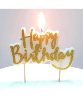 Happy Birthday נר זהב