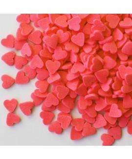 סוכריות לעוגה לבבות אדומים